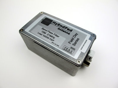 15M HF Band Pass Filter 1KW PEP SSB