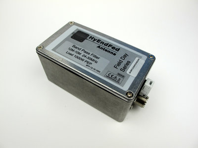 12-10M HF Band Pass Filter 1KW PEP SSB